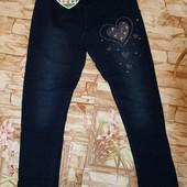 Леггинсы под джинс с легким начесом glass bear 116-146