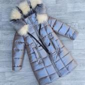❄️Зимняя удлиненная куртка - пальто,116-152, 1200 грн