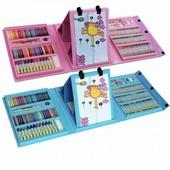 Набор для детского творчества в чемодане из 208 предметов набор для рисования с мольбертом
