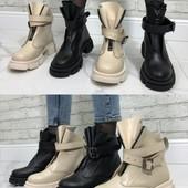 Качественная кожаная обувь зима,Деми
