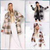 Теплые рубашки-пальто, детские от 104 см и взрослые от 42 до 60 размера