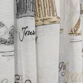 Тюль. Ткань для штор лён с принтом «Города»