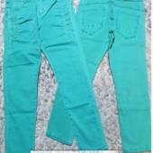 Яркие джинсы для девочек dream girl 8-16 лет. Цвет бирюза