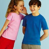 Детская футболка Fruit of the loom Valueweight для мальчиков и девочек