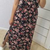 Платье штапель длинное р. М-3ХЛ расцветки
