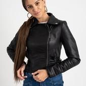 Женская куртка-косуха из кожзама 42-50р