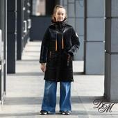 Зимняя удлинённая куртка для девочки