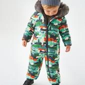 NEXT зимний комбинезон медведи тайга 0-1-2-3-4-5-6-7лет до минус 25С мороза для мальчиков